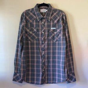 True Religion, NWOT Men's Snap Front Shirt Western